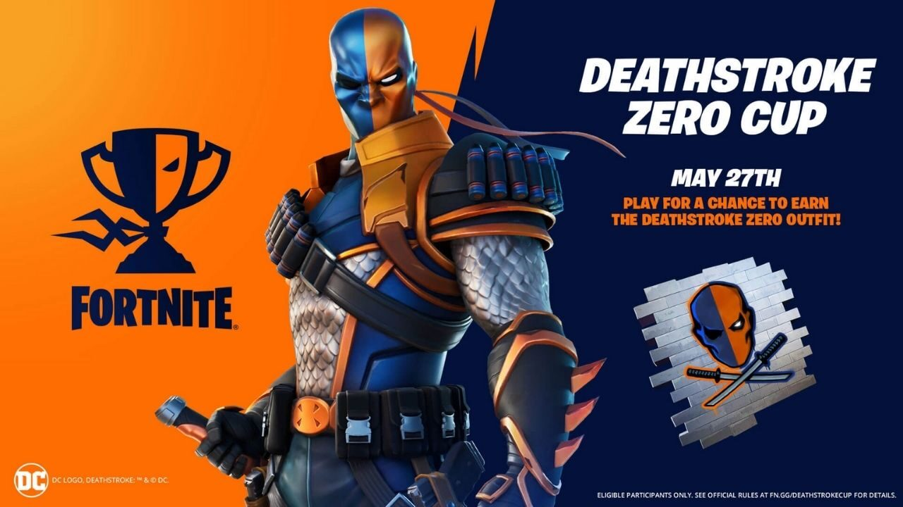 Deathstroke Skin and Deathstroke Zero Cup are coming in Fortnite