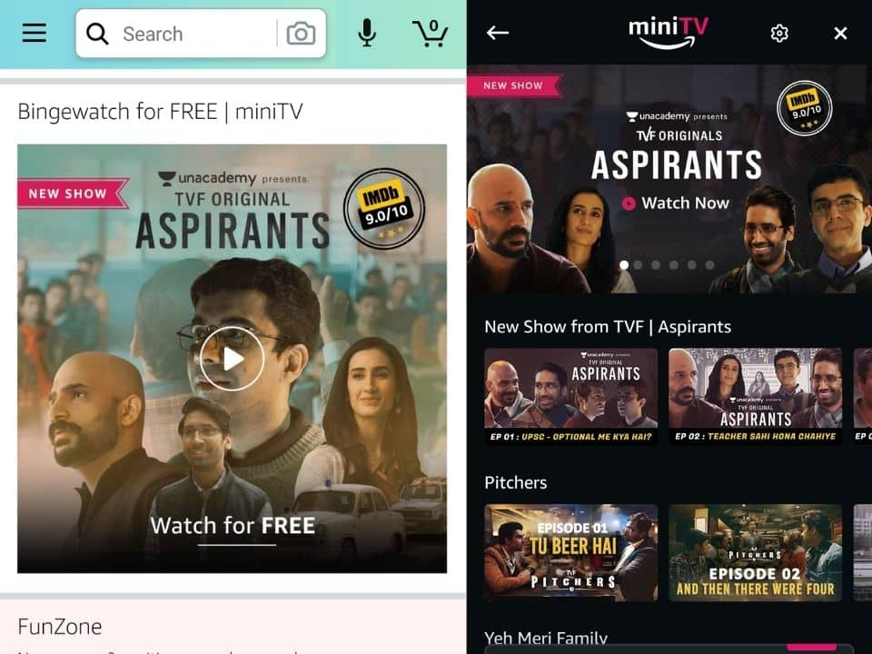 Amazon Launches its Free Video Streaming Platform in India
