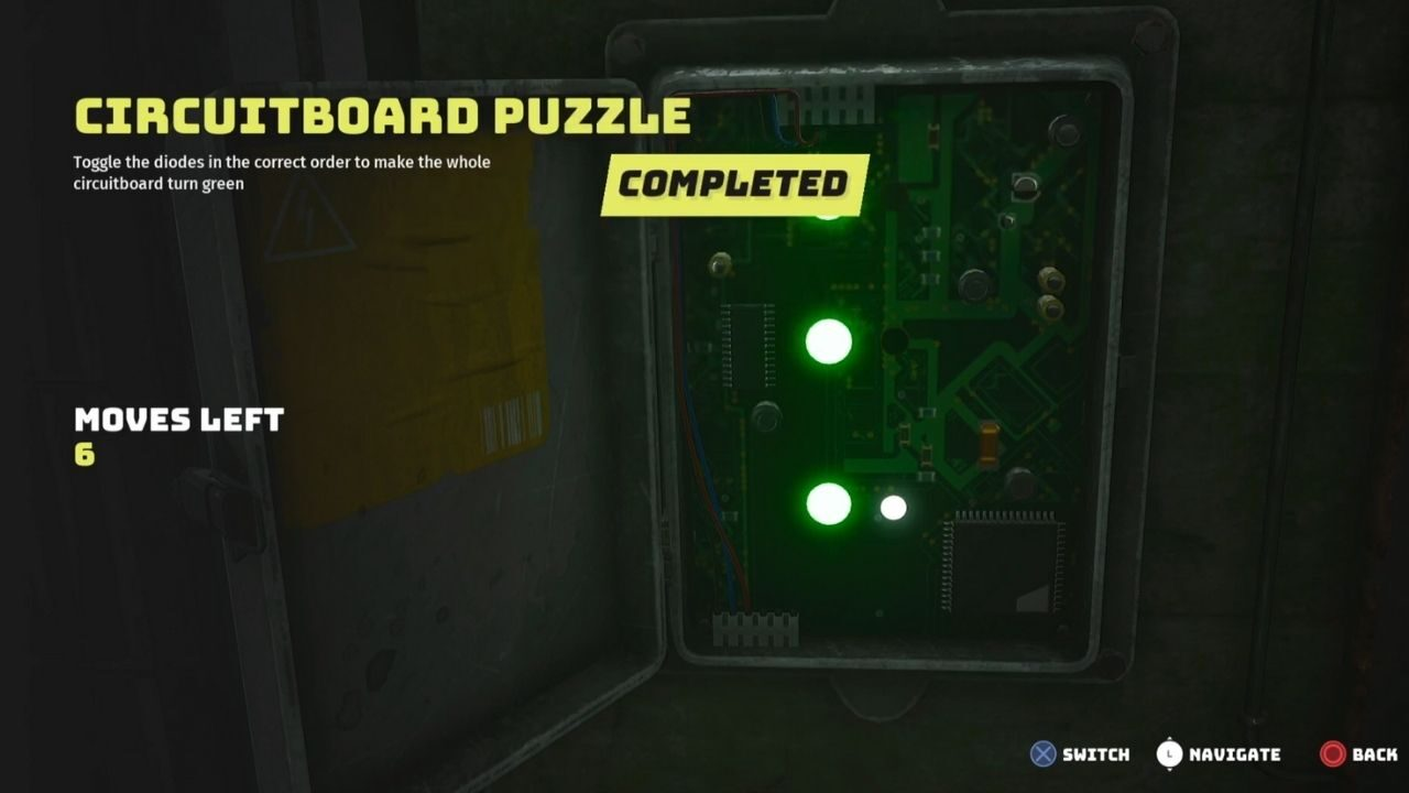 Solution to the Circuitboard Puzzle