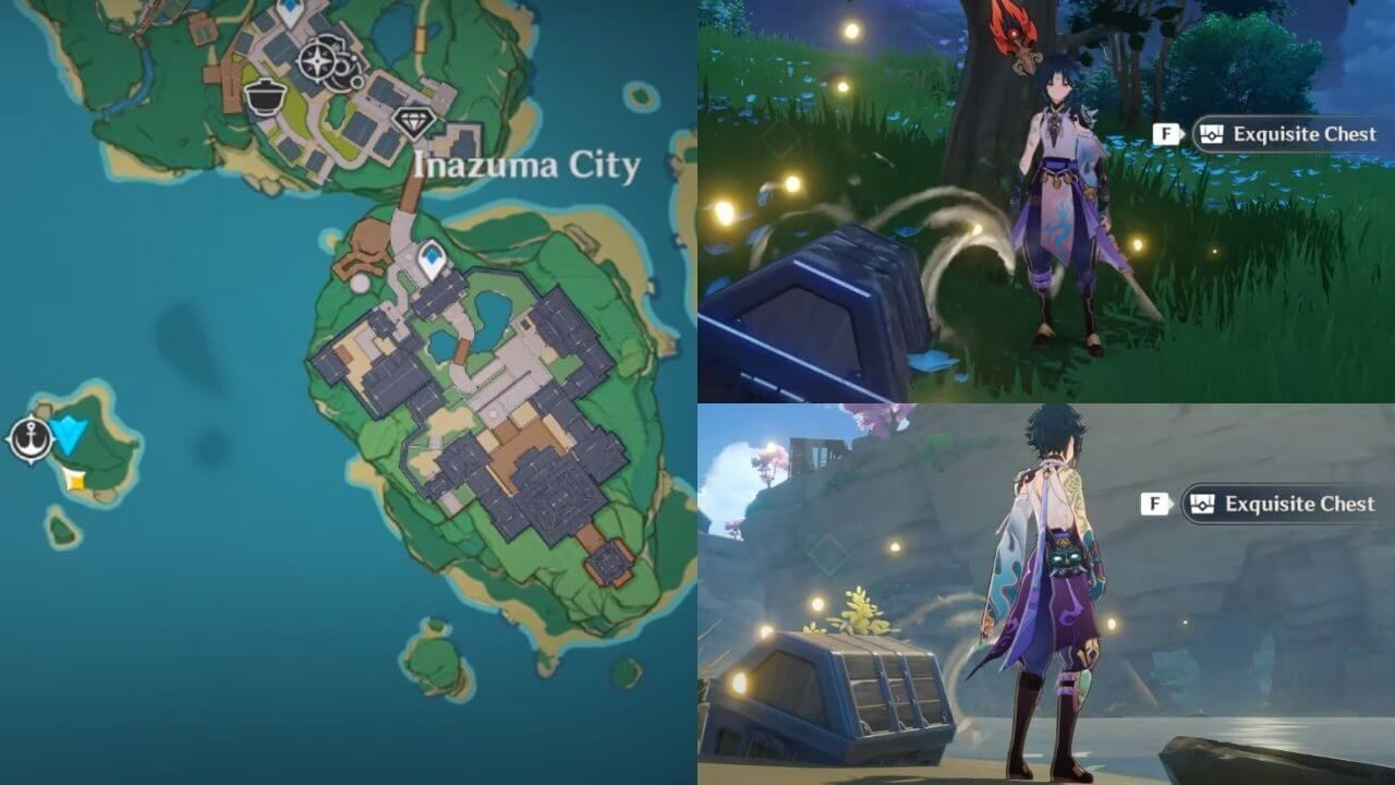 Location of All Inazuma Buried Chest in Genshin Impact